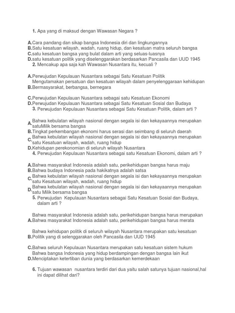 Soal Wawasan 2