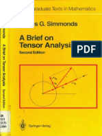 A Brief on Tensor Analysis