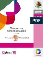 Manual de diferenciación entre artesania y manualidad