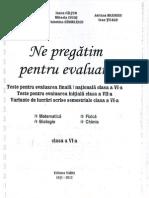 Teste evaluare cls. 6
