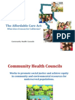Affordable Care Act Presentation by Community Health Councils - English