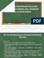Isu - Isu Ketaksamaan Peluang Pendidikan