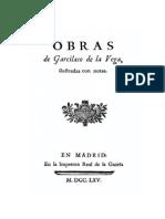 Obras de Garcilaso de La Vega Ilustradas Con Notas 0
