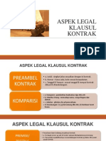 Aspek Legal Kontrak
