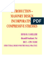Introduction Masonry Design Dh Camilleri