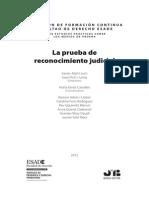La Prueba de Reconocimiento Judicial. Autores + Presentacion + Indice