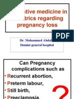 Pregnancy Loss Prevention