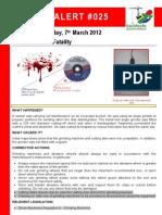 BSA Alert 025 Grinder Fatality