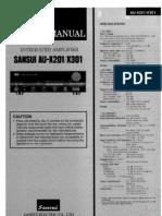 Sansui Au-x201 x301 Sm