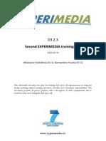 D3.2.3 Second EXPERIMEDIA Training Plan PU v1.0