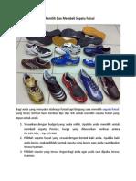 Tips Memilih dan Membeli Sepatu Futsal