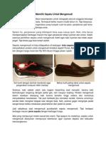 Tips Memilih Sepatu Untuk Mengemudi