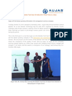 Aujas Wins Deloitte Tech Fast 50 India 2013 Third Time in a Row