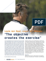 VAN GAAL u19 Objective Creates Exercise