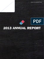 Dominos 2013 Annual Report