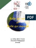 Volley Reperes Pedagogiques Ballon Qui Vole