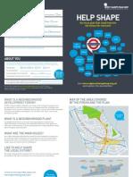 West Hampstead Neighbourhood Development Forum leaflet October 2013
