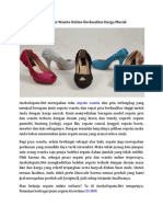 Toko Sepatu Wanita Online Berkualitas Harga Murah