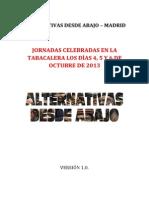 ALTERNATIVAS DESDE ABAJO MADRID Sinopsis de Las Conclusiones Jornadas Octubre de 2013