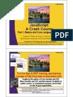 JavaScript 1 Core Syntax