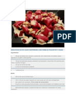 Gnocchi de Batata Doce e Beterraba Com Creme de Roquefort e Nozes