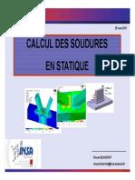 Calcul soudures statique