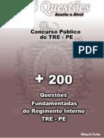 QUESTÕES SOBRE O REGIMENTO INTERNO DO TRE-PE