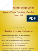 Lecture10 - Selection of Phases, Poles, Stator & Rotor Slots
