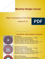 Lecture12 - Stator Laminations & Core Design Studies