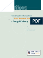 From Shop Floor to Top Floor - Best Business Practices in Energy Efficiency