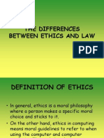 Lesson 7 - The Differences Between Ethics and Law