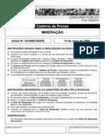 PROVA IFRN - Professor_Mineracao