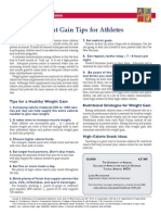 WAIT GAIN TIPS FOR ATHLETES