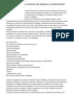 Limsama experta en servicios de limpieza y mantenimiento en Málaga