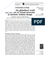 Fashion in the Globalized World and the Role of Virtual Networks in Intristic Fashion Design