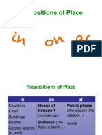 Prepositions of Place At_on_in
