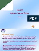 HACCP Manual Review 2011