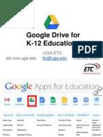 Google Drive for K-12 Education