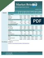 Weekly Market Briefing (October 21, 2013)