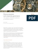Tomorrow's Investor - Democratisation and Corporate Governance
