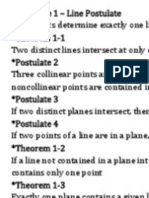 GEOMETRY - Postulates, Theorems, And Definitions