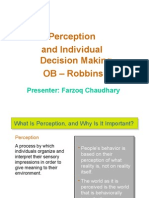 Perception and Individual Decision Making- Final