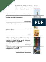 LISTA DE OBRAS E TEXTOS PARA EDUCAÇÃO LITERÁRIA 5º