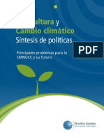 Agricultura y Cambio Climatico Sintesis de Politicas Principales Problemas Para La CMNUCC y Su Futuro PDF