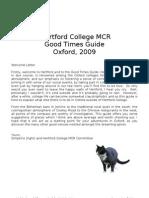 Hertford College MCR - Good Times Guide 2009