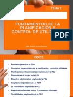 HURTADO, A. (2012) TEMA 2 FUNDAMENTOS DE LA PLANIFICACIÓN Y CONTROL DE UTILIDADES