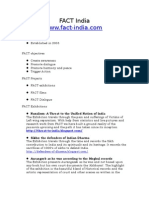 FACT India Single Page Outline