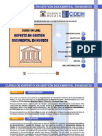 CURSO DE EXPERTO EN GESTIÓN DOCUMENTAL EN MUSEOS (DOMUS)