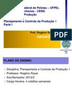 Parte 1 - Introducao Ao PCP