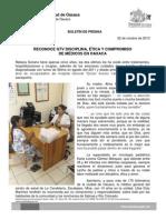 22/10/13 Germán Tenorio Vasconcelos DISCIPLINA, ÉTICA Y COMPROMISO DE MÉDICOS EN OAXACA